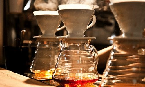 coffee brewing. v60 brewing ritual.