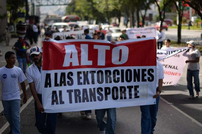 Protestors  in Guatemala City.