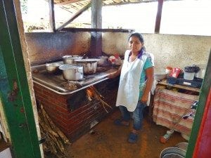 Woman cooking lunch