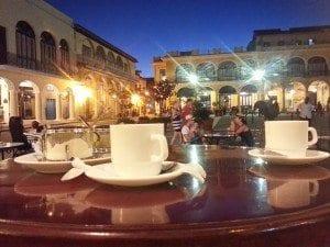 Sipping on a coffee in Havana espresso cuba