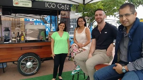 During my visit with International Coffee Organisation (ICO) Café in the capital.