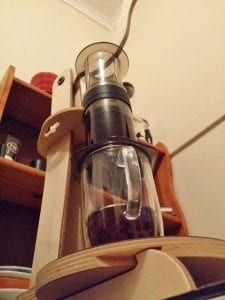 'AeroSpressing' Aeropress specialty coffee with the hands-free Spresso