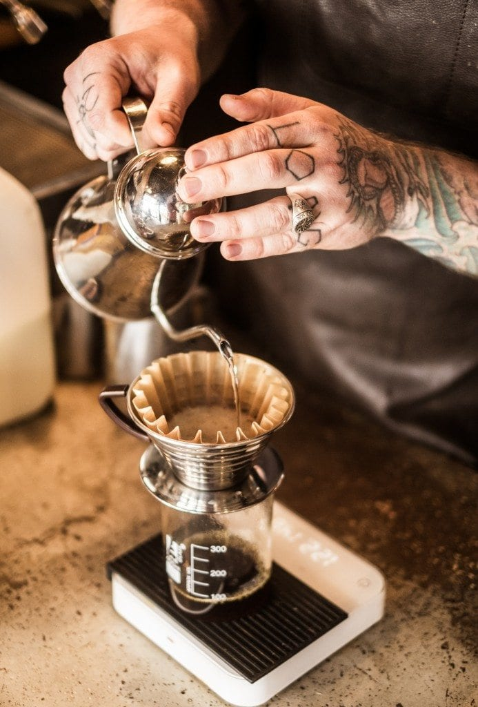 Pourover Coffee Extraction