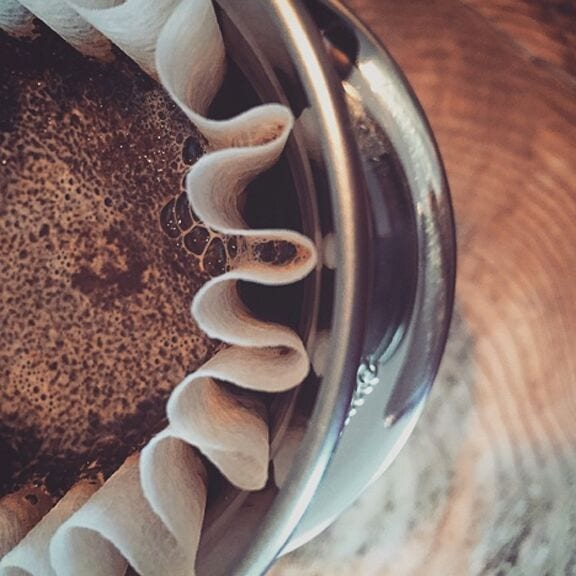 The Kalita Wave brew method.