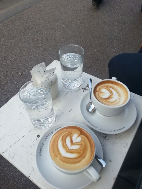 Lattes at Eliscaffe in Zagreb
