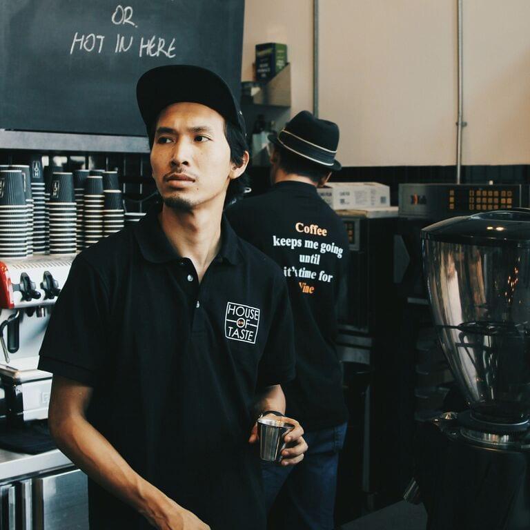 barista in coffeeshop