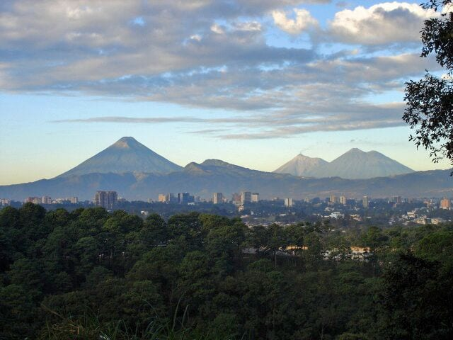 landscape view of guatemala central america