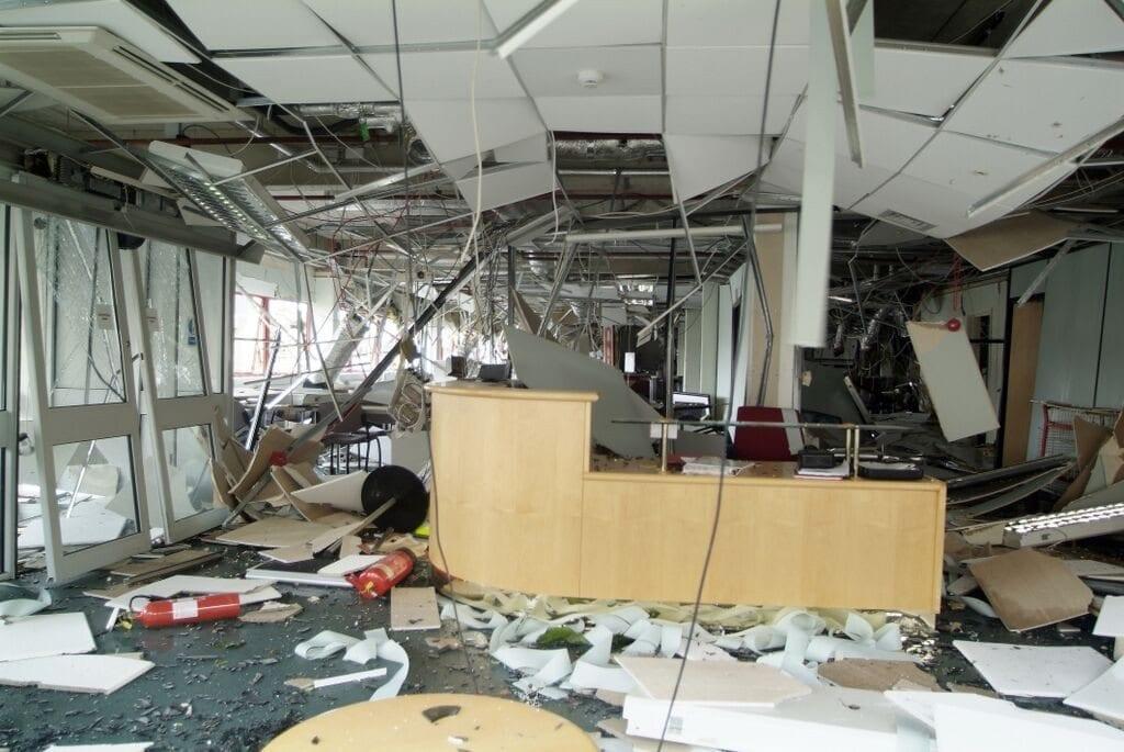 torn down interior