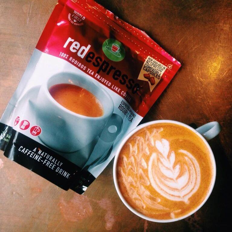 Red espresso latte