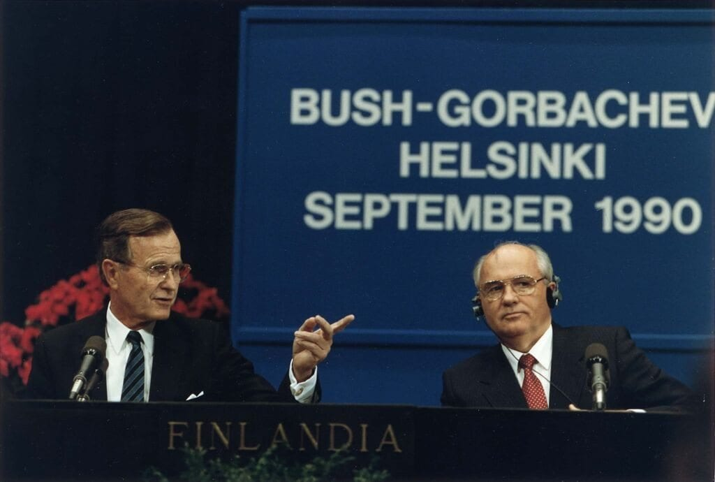 Bush and Gorbachev