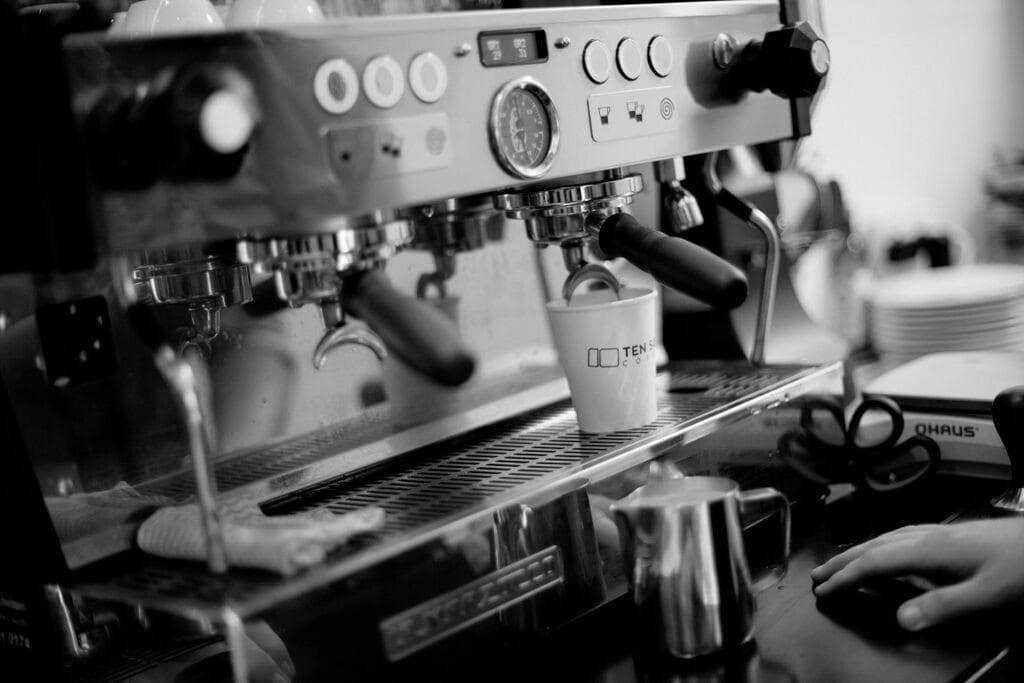 espresso being pulled