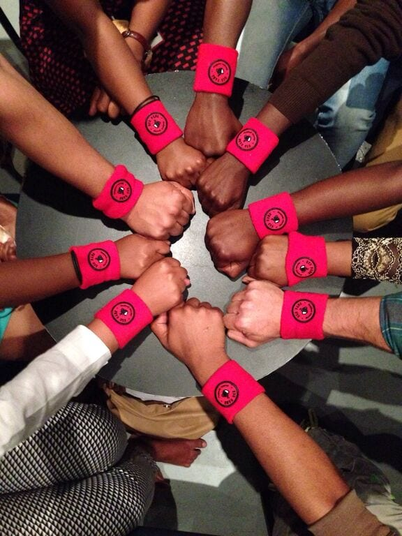 fist with wristbands