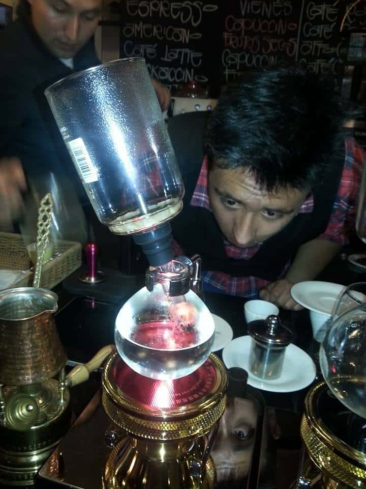 syphon brewing method