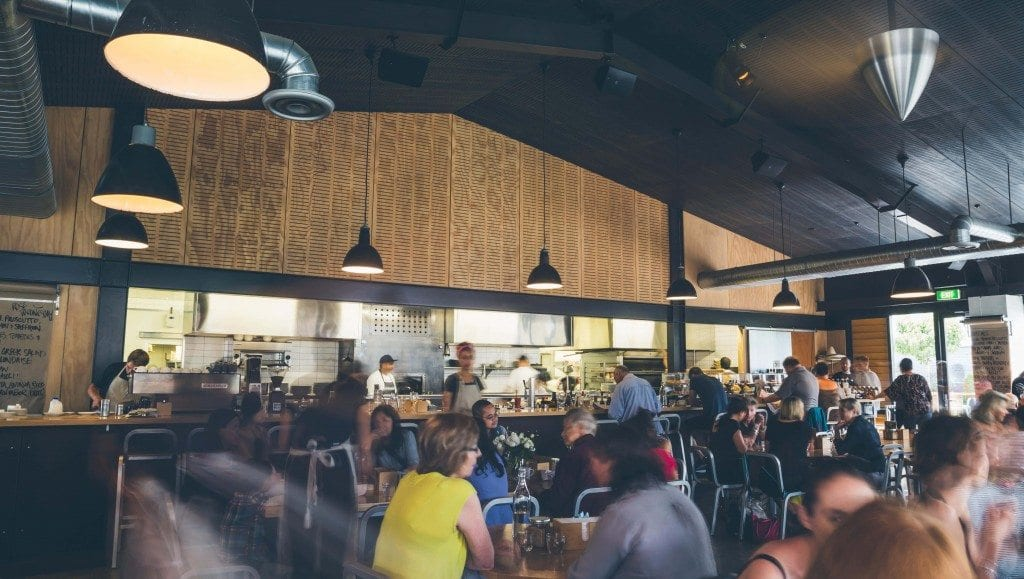 Acme & Co's headquaters: Prefab Cafe in Wellington.