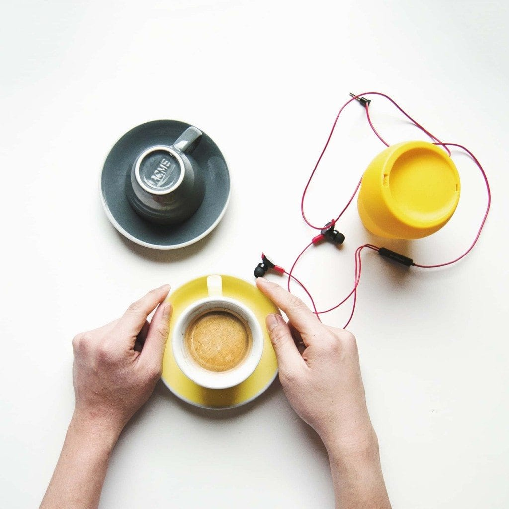 Yellow coffee cups