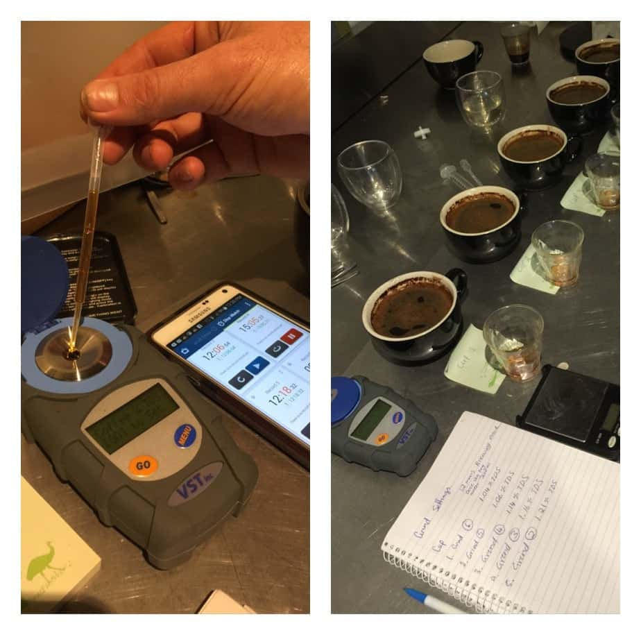 refractometer and cupping