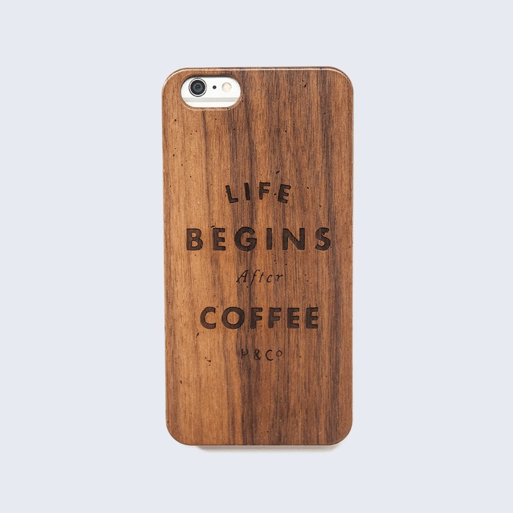 life begins after coffee phone case