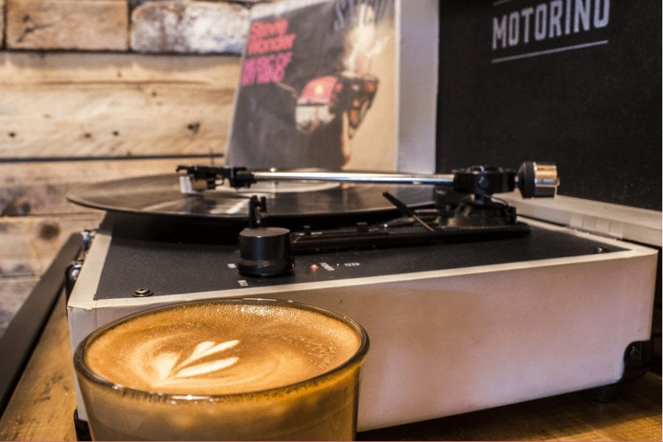 specialty coffee and vinyls