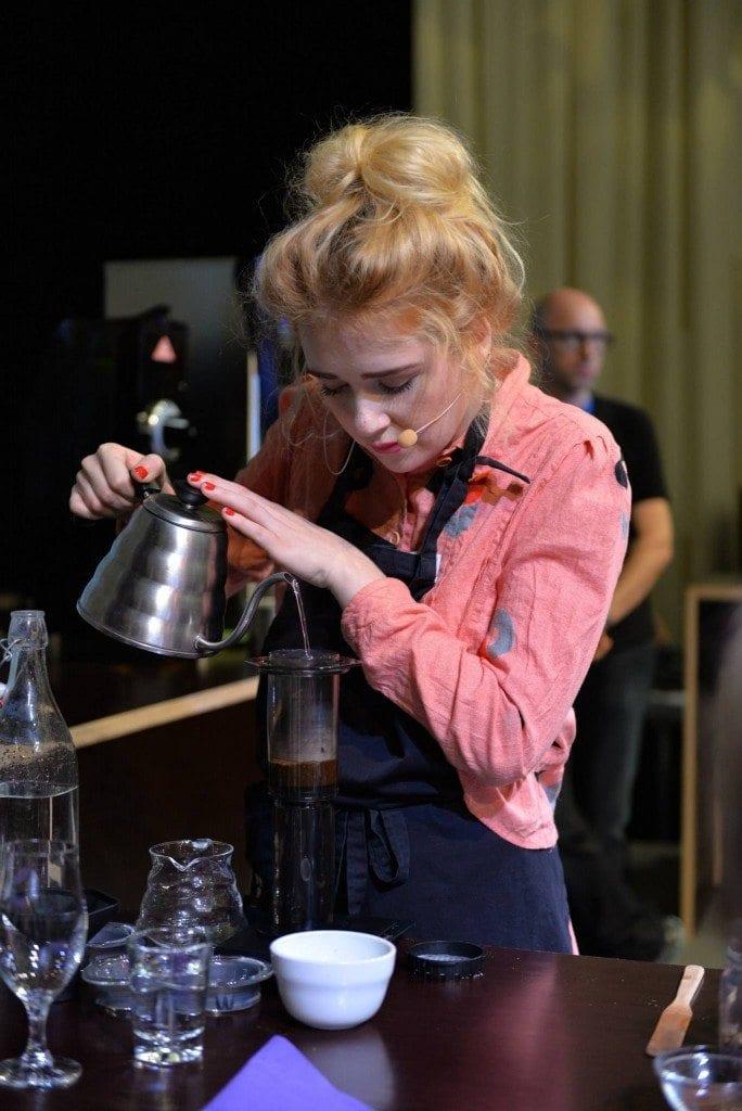 Victoria brewing coffee
