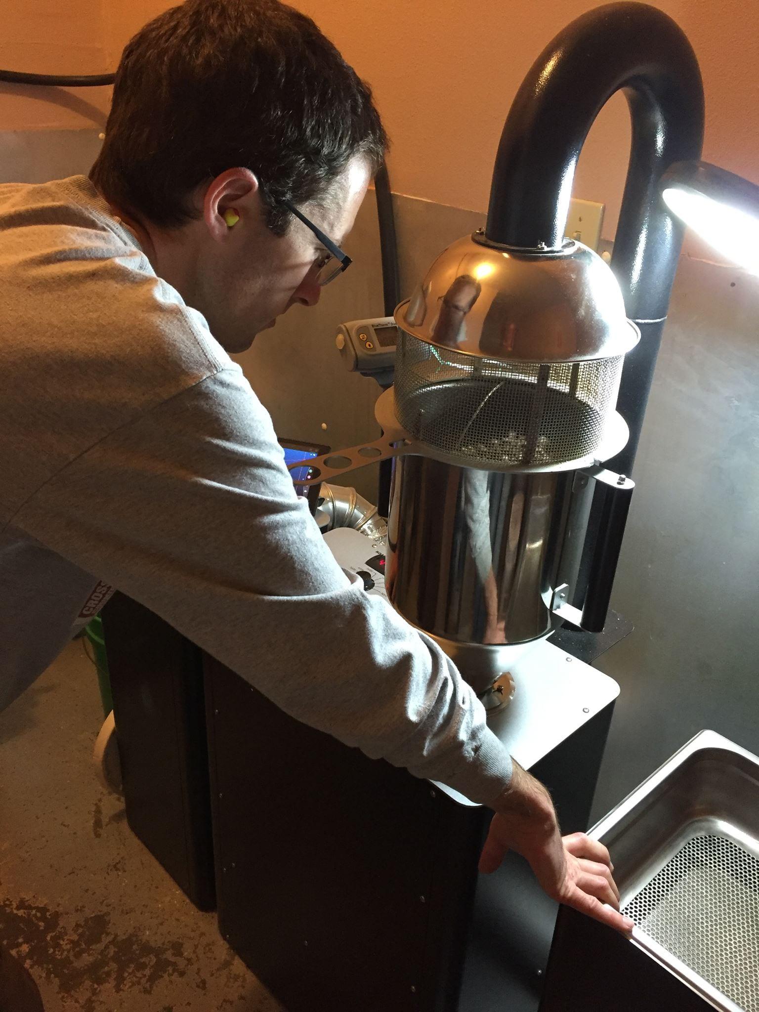 roasting on a fluid-bed roaster