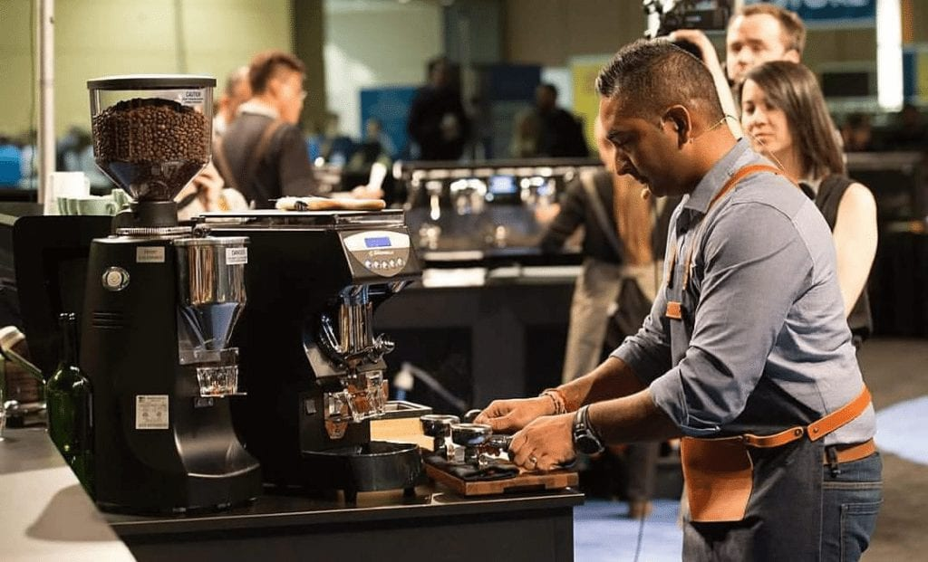 barista performance at competition