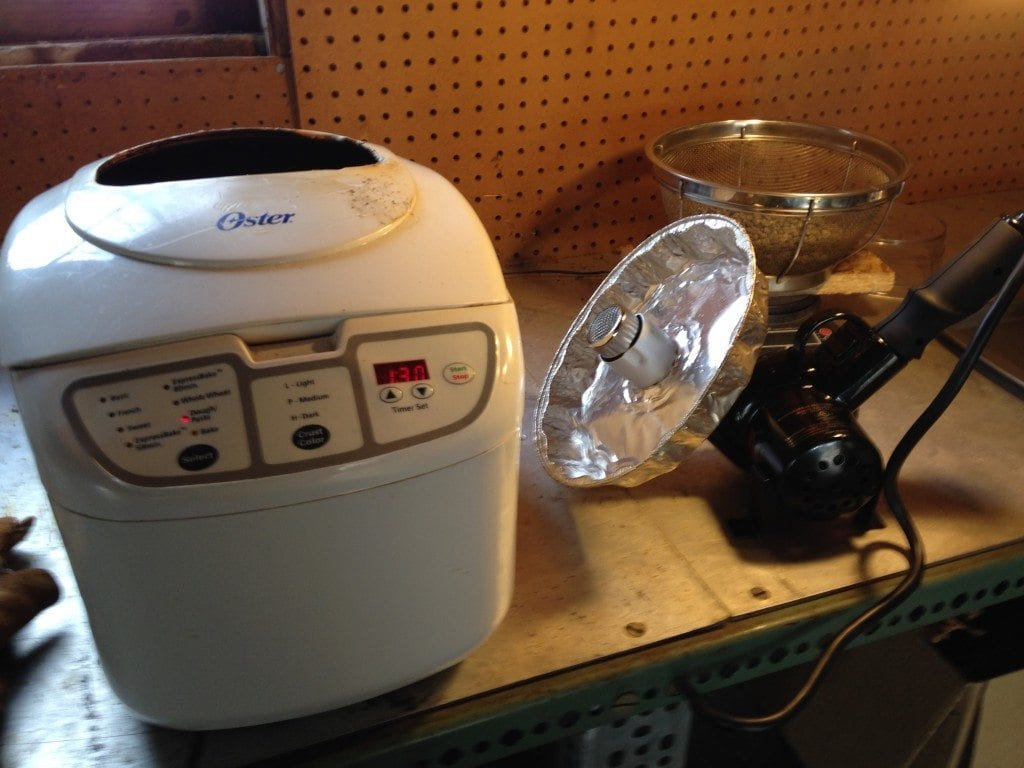 roasting coffee in a popcorn machine