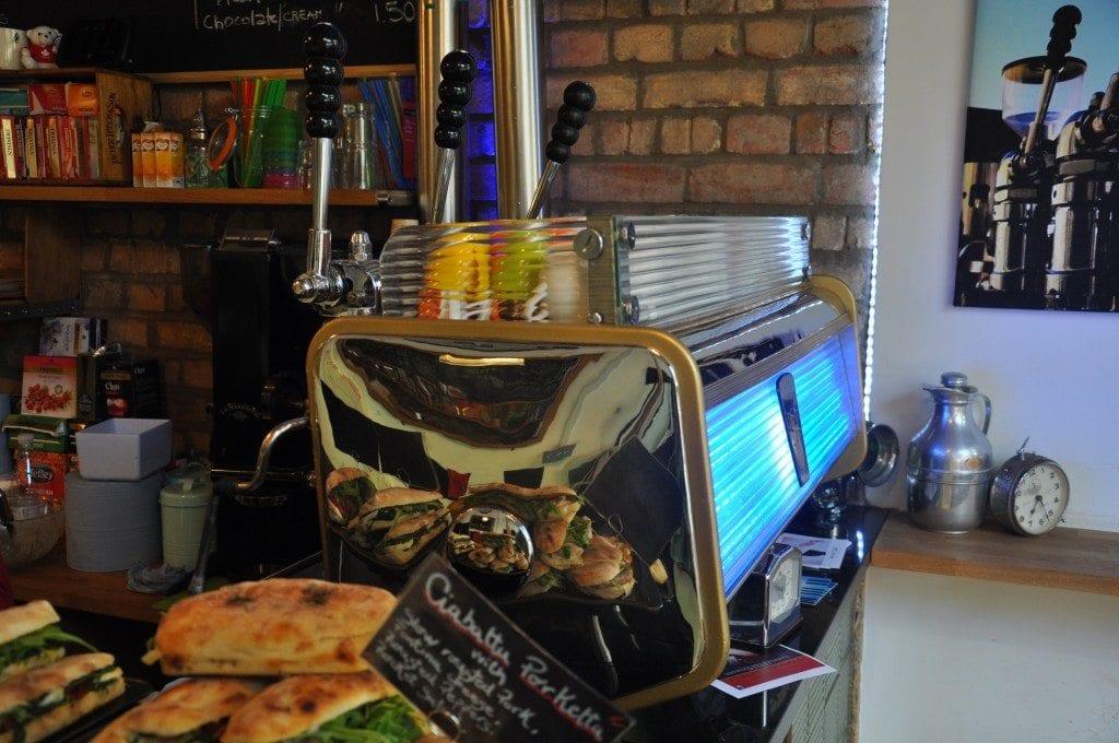 London's oldest working espresso machine, the Gaggia Tipo America