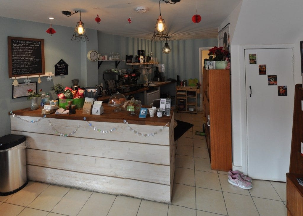 Silhouette coffee shop in London
