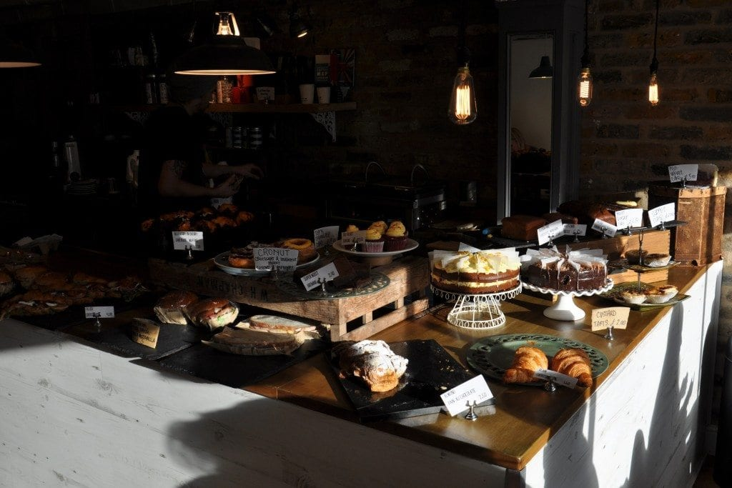 cake display at White Mulberries