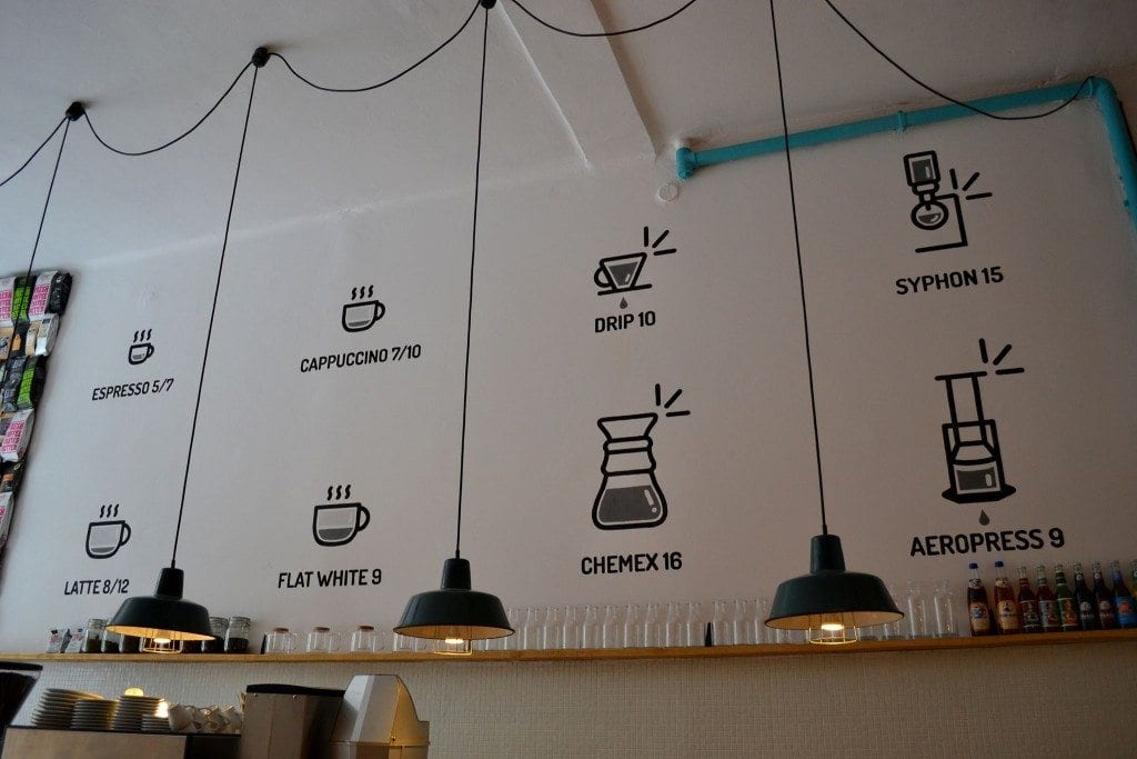 creative coffee menu