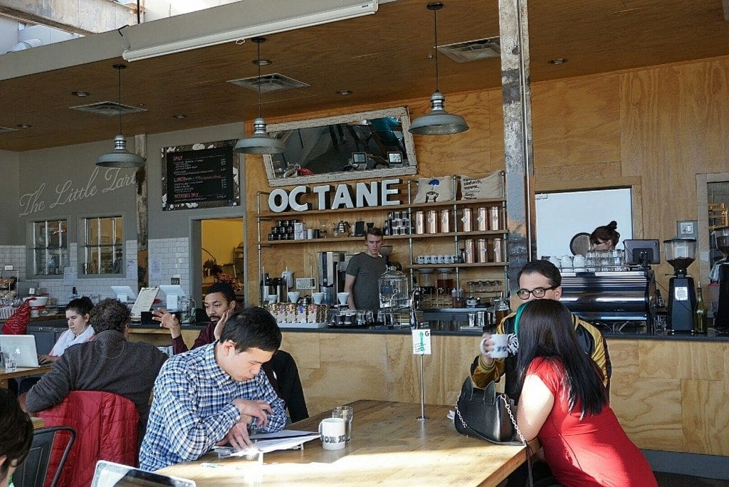 Octane coffee bar shop interior