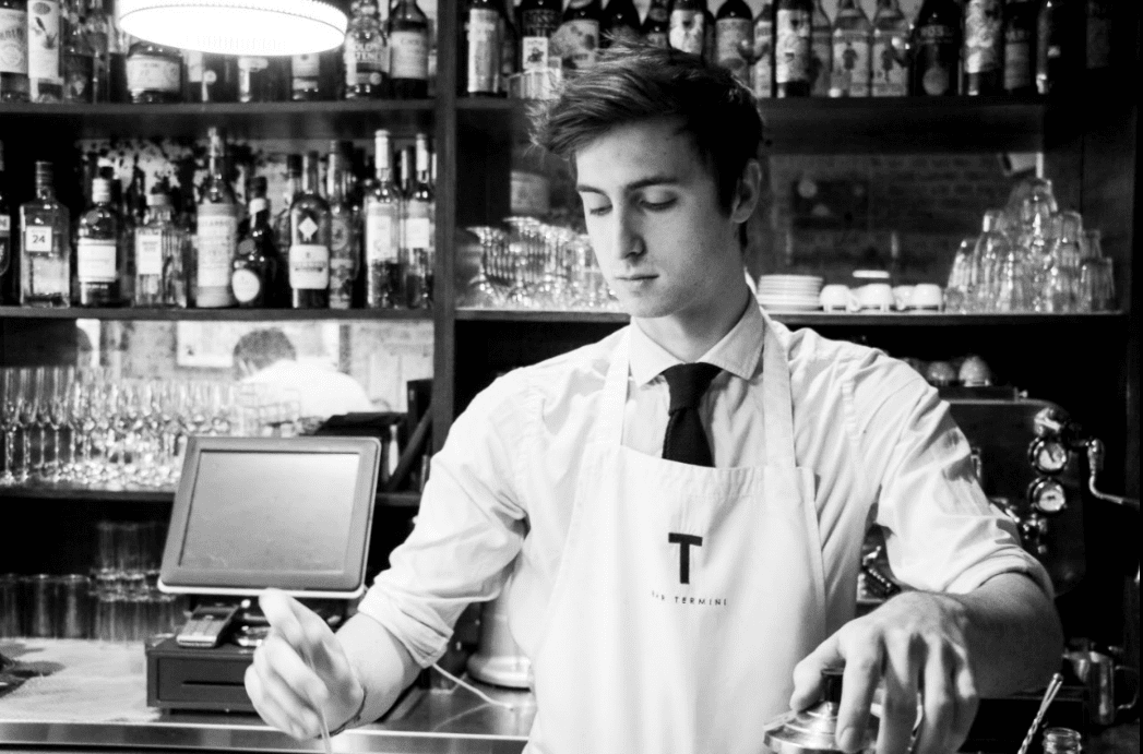 Barista at bar termini