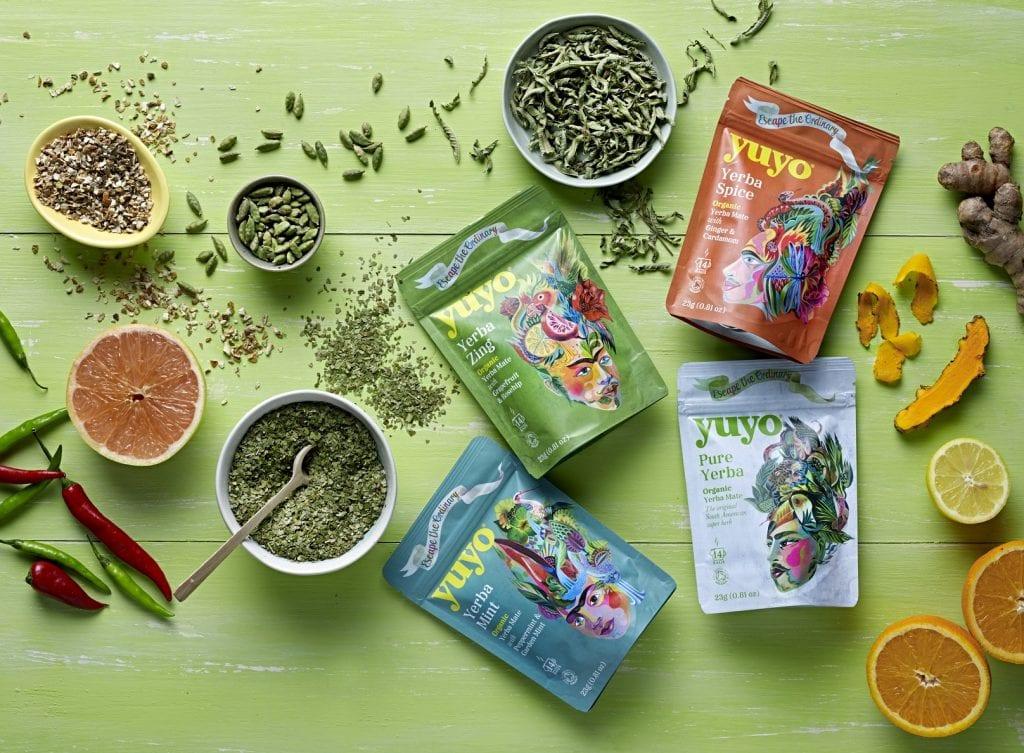 Yerba yuyo mate retail range with ingredients