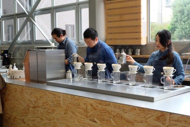 blue bottle coffeeshop in tokyo