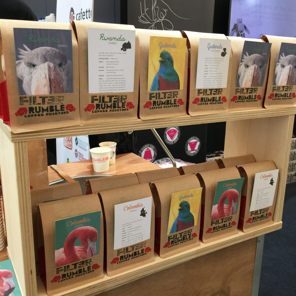 coffee bags by rumble coffee roasters