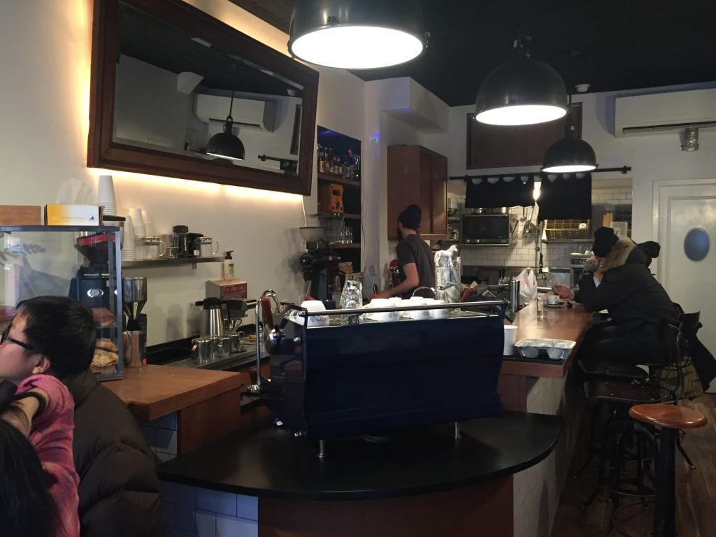 Box Kite Coffee barista at work