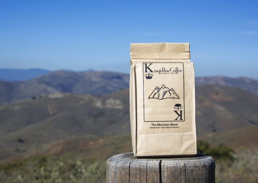 bag of King's Row Coffee