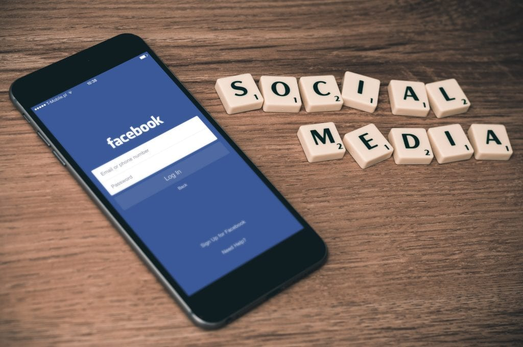 facebook on mobile and social media