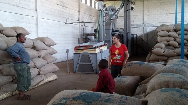 Moplaco's Yirgacheffe warehouse.