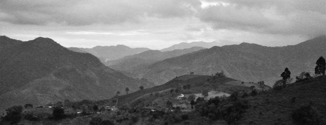 Colombia's Western mountain range