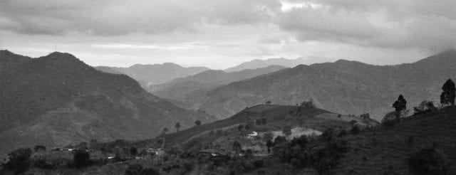 Colombia's Western mountain range