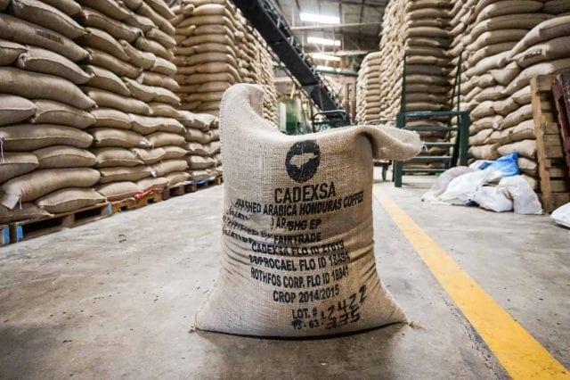 coffee sack in warehouse