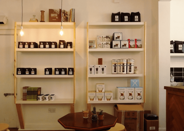 coffee retail section