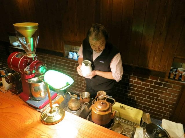 traditional coffee making in Japan