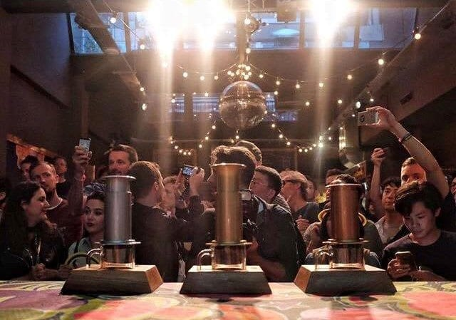 The World AeroPress Championship trophies