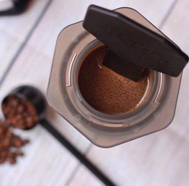 Coffee in an AeroPress