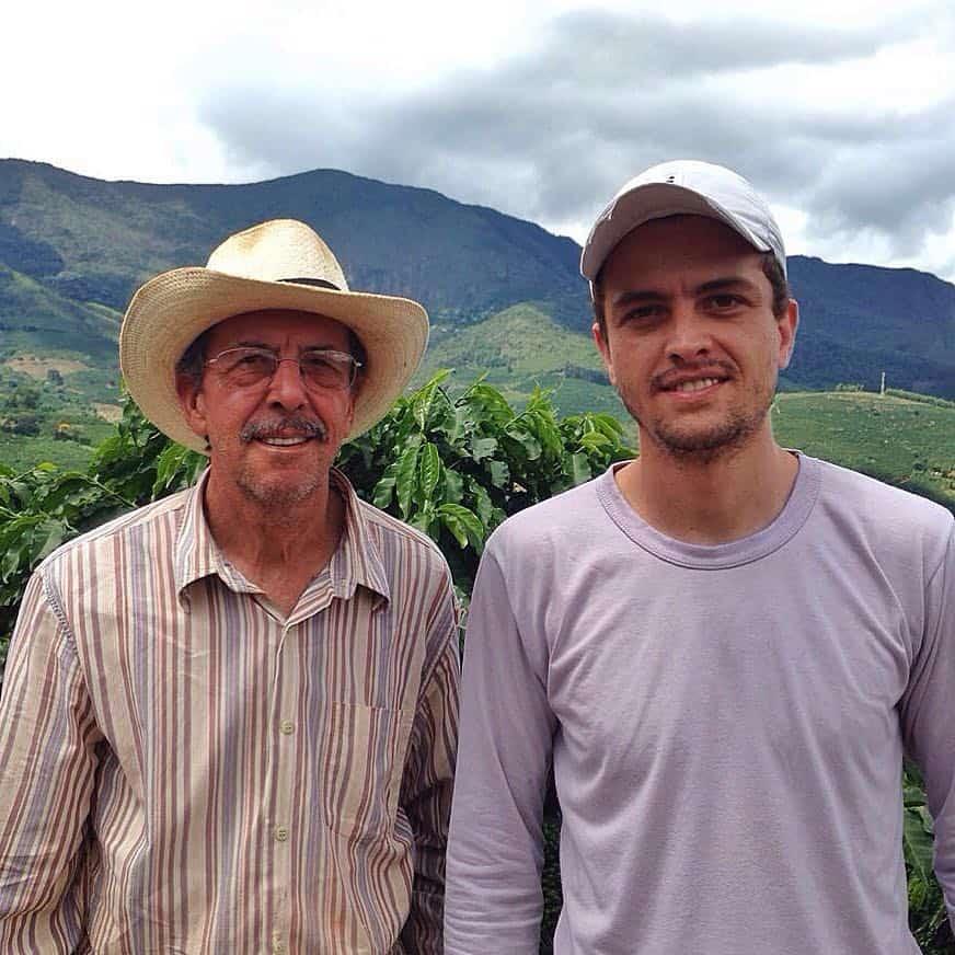 Two men on a coffee farm