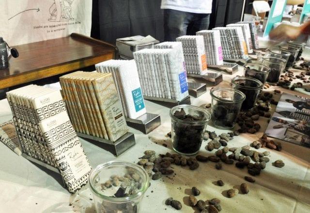 Raaka Virgin Chocolate table
