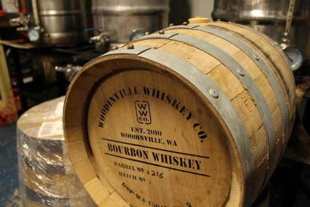 Eight-gallon bourbon barrel