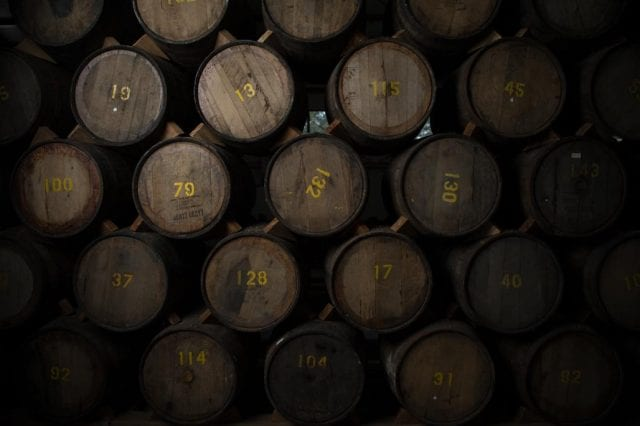 Ron Cihuatán ageing in Bourbon casks